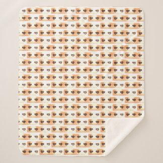 小さいハートパターンvendrediのスタイル毛布 シェルパブランケット