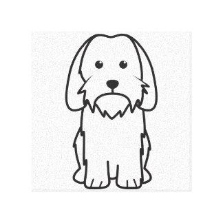 小さいバセット犬のGriffon Vendeen犬の漫画 キャンバスプリント