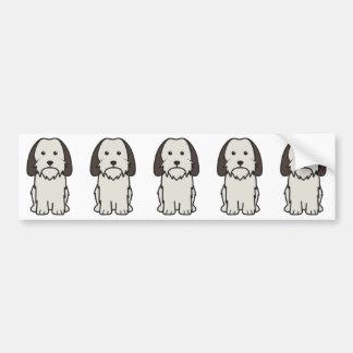 小さいバセット犬のGriffon Vendeen犬の漫画 バンパーステッカー
