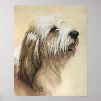 小さいバセット犬のGriffon Vendeen犬の芸術のプリント ポスター