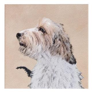 小さいバセット犬Griffon Vendéen アクリルウォールアート