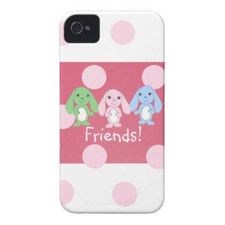 小さいバニー及び友人のブラックベリーの箱 Case-Mate iPhone 4 ケース