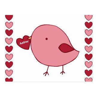 小さいバレンタインのひよこのカスタムの郵便はがき ポストカード