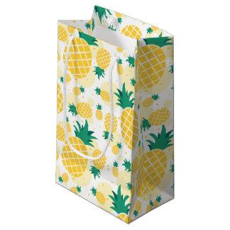 小さいパイナップルギフトバッグ-光沢のある スモールペーパーバッグ
