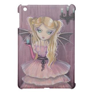 小さいピンクのゴシック様式吸血鬼のiPadの場合 iPad Miniカバー