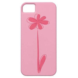 小さいピンクのデイジー iPhone SE/5/5s ケース