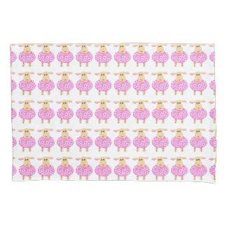 小さいピンクの子ヒツジ 枕カバー