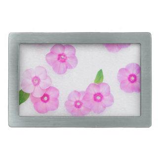 小さいピンクの花 長方形ベルトバックル