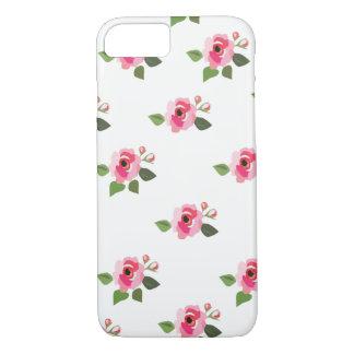 小さいピンクの花 iPhone 8/7ケース