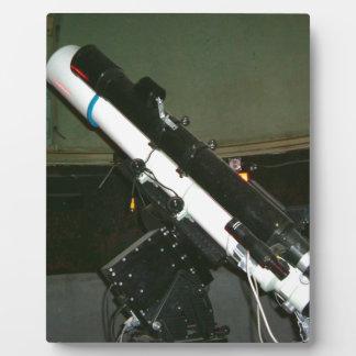 小さいプラネタリウムの望遠鏡 フォトプラーク