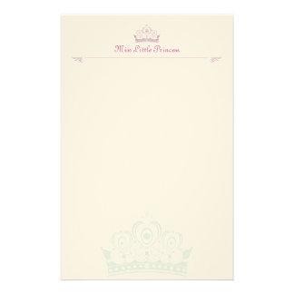 小さいプリンセスの名前入りなノート紙 便箋