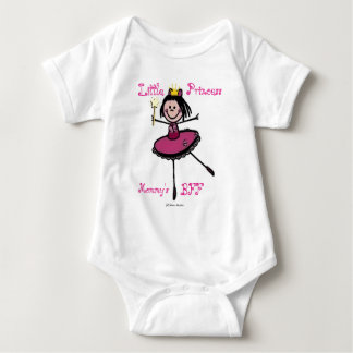 小さいプリンセス-お母さんのBFF ベビーボディスーツ