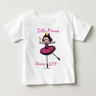 小さいプリンセス-お母さんのBFF ベビーTシャツ