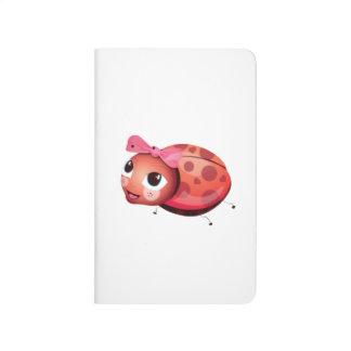 「小さいベビー愛シール」のてんとう虫のキャラクターのノート ポケットジャーナル