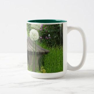 小さいベンチ-緑のツートーンマグ ツートーンマグカップ