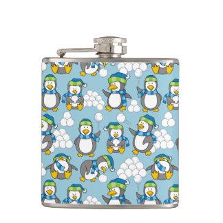 小さいペンギンの背景 フラスク