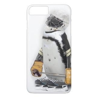 小さいペンギンの身に着けているホッケーのギア iPhone 8 PLUS/7 PLUSケース