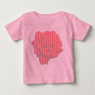 小さいポイント赤いバラの乳児のTシャツ ベビーTシャツ