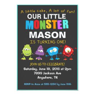 小さいモンスターの誕生日のパーティの招待状 カード