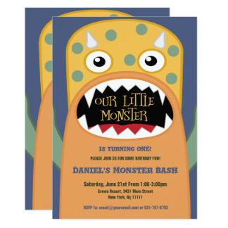 小さいモンスターの誕生日の招待状 カード
