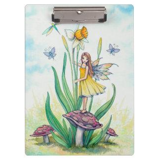 小さいラッパスイセンの妖精のファンタジーの芸術 クリップボード