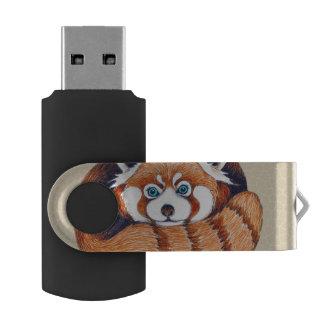 小さいレッサーパンダは日焼けに関係します USBフラッシュドライブ