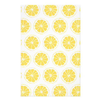 小さいレモンは写実的なパターンをスライスします 便箋
