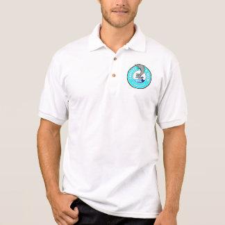 小さいロゴ、白人 ポロシャツ