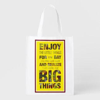 小さい事をインスパイア引用文のエコバッグを楽しんで下さい エコバッグ