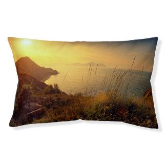 """""""小さい事""""の引用文の日没の海の眺め楽しんで下さい"""