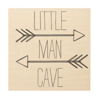 小さい人の洞窟の印 ウッドウォールアート