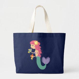小さい人魚のバッグ ラージトートバッグ