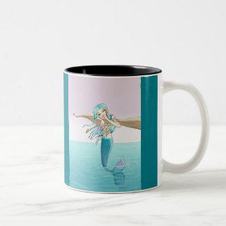 小さい人魚のマグ ツートーンマグカップ