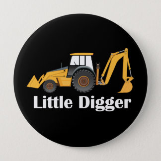 小さい坑夫-、4ボタンののあたりでじりじり動かして下さい巨大な 10.2CM 丸型バッジ