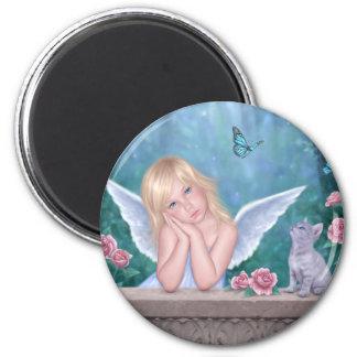小さい奇跡のかわいい天使及び子ネコの磁石 マグネット