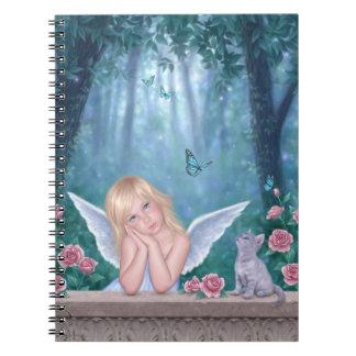 小さい奇跡の天使の子供及び子ネコのノート ノートブック