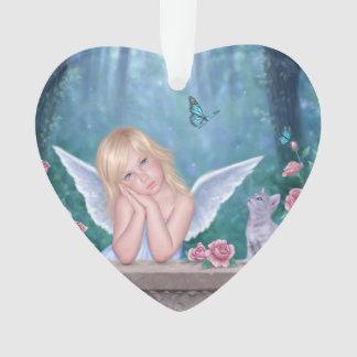 小さい奇跡の天使の芸術のハートのオーナメント オーナメント