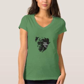 小さい女性のためのJodyのイメージのBellaのV首のティー Tシャツ