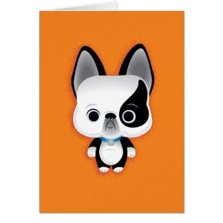 小さい子犬 ノートカード