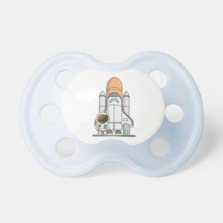小さい宇宙飛行士及び宇宙船 おしゃぶり