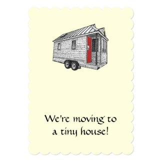 小さい家の移動発表 12.7 X 17.8 インビテーションカード