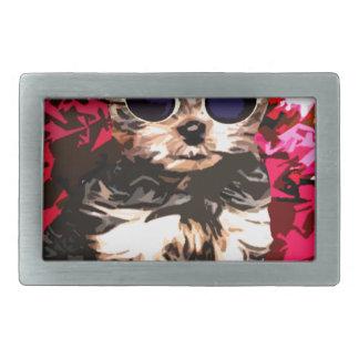 小さい小犬のスタイル 長方形ベルトバックル