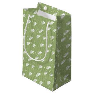 小さい山道GREEN-WHITEパターン スモールペーパーバッグ