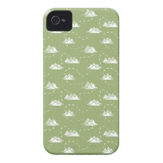 小さい山道GREEN-WHITEパターン Case-Mate iPhone 4 ケース