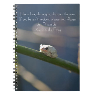 小さい川のカエル ノートブック