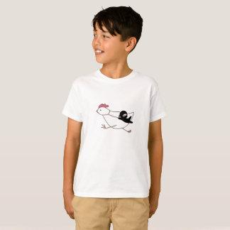 小さい忍者の飼いならす連続した鶏 Tシャツ