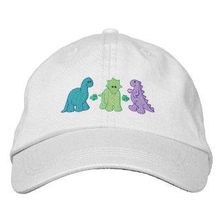 小さい恐竜 刺繍入りキャップ