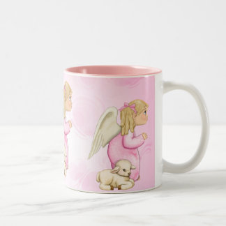 小さい恵みの天使の女の子 ツートーンマグカップ