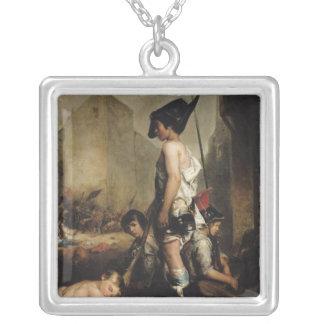 小さい愛国者1830年 シルバープレートネックレス