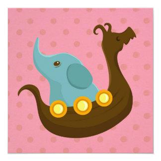 小さい旅行者: バイキング象カード カード
